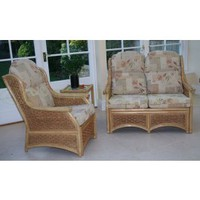 Mclean Thatched Cottage Cane 2 Seater Sofa Frame only