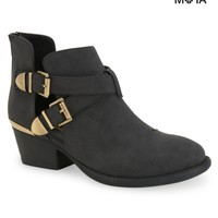 Cut-Out Buckle Bootie