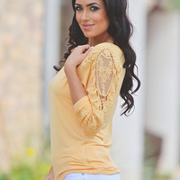 Secret Crush Top - Maize