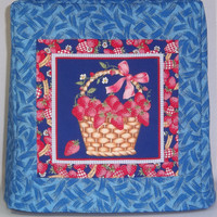 Kitchenaid Mixer Cover - Blue with Basket of Strawberrries