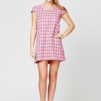 Pink Tartan Shift Dress