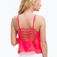 Ladder Day Strappy Cropped Top