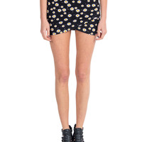 Lush Clothing - Front Cross Over Slit Daisy Skirt