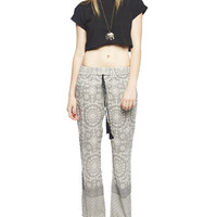 Tribal Print Border Wide Leg Pant | Wet Seal