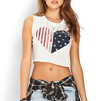 Rustic Americana Crop Top