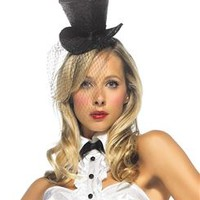 Black Mini Glitter Top Hat
