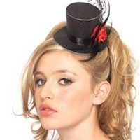 Clip On Glitter Top Hat