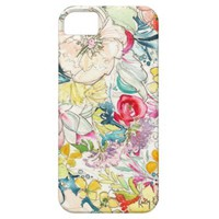 Neon Watercolor Flower iPhone Case