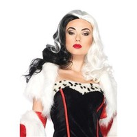 Cruella Black And White Wig