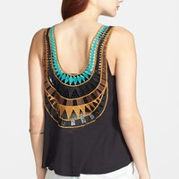 Lush Embroidered Back Tank (Juniors) | Nordstrom