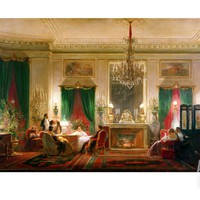 Salon of Princess Mathilde Bonaparte Rue de Courcelles, Paris, 1859 Giclee Print by Charles Giraud at Art.com