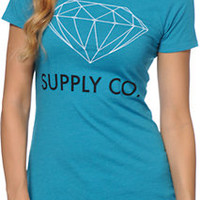 Diamond Supply Co Women's Supply Co Teal Tee Shirt