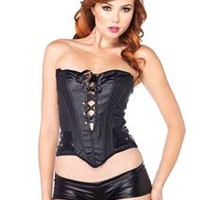 Wet Look Black Bustier