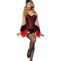 Burlesque Showgirl Adult Womens Costume