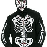 Six Pack Of Skulls Skeleton Adult Mens Hoodie