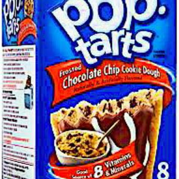 Frosted Chocolate Chip Cookie Dough Pop-tarts 8 Count (2 Boxes)