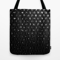 Polka Dot Black Jewels G191 Tote Bag by MedusArt