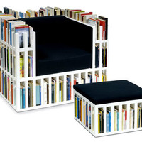 Bibliochaise with matching stool | the style files