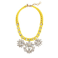 VIVID LEMON CRYSTAL NECKLACE