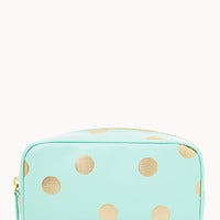 Metallic Polka Dot Cosmetic Bag
