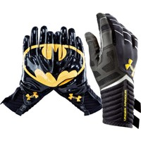 Under Armour Adult Alter Ego Batman Receiver Gloves