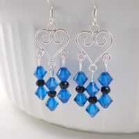 Blue Chandelier Earrings