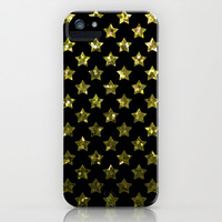 Stars Gold Sequins G192 iPhone & iPod Case by MedusArt