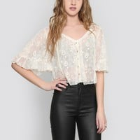 DREAM WEAVER CROP BLOUSE