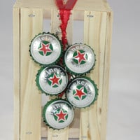 Heineken Jingle Bells from Recycled Bottle Caps, Christmas Decoration, Christmas Jinlge Bells, Door Decoration