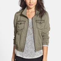 Rubbish® Twill Crop Bomber Jacket (Juniors) | Nordstrom