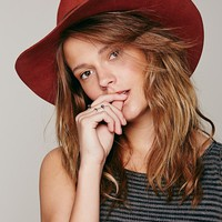Free People Wide Brim Floppy Felt Hat