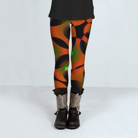 High Tech Abstract Pattern by Daniel Ferreira-Leites (Leggings)