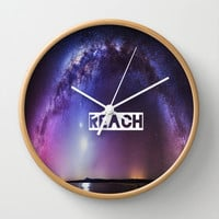 REACH Wall Clock by Hoshizorawomiageteiru