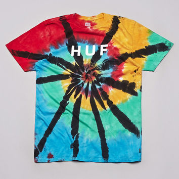 Flatspot - Huf Original Logo Wash T Shirt Black Wash