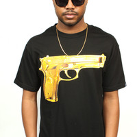 Gold Peace Tee Black