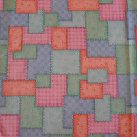 Pastel Patchwork Cotton Fabric – 1 YARD