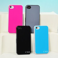 Solid Color Personalized iPhone Cases - 9 Color Options