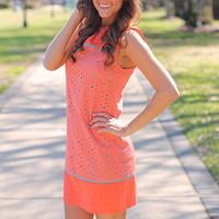 I Love Eyelet Dress, Orange