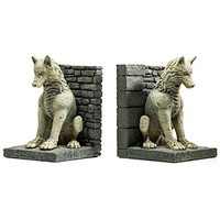Game of Thrones Stark Direwolf Bookends