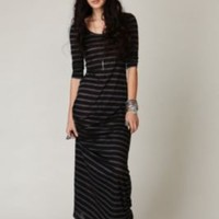 Long Sleeve Striped Maxi Dress at Free People Clothing Boutique