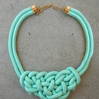 Marina Rope Necklace in Mint [4740] - $16.00 : Vintage Inspired Clothing & Affordable Dresses, deloom | Modern. Vintage. Crafted.