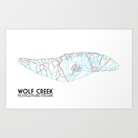 Wolf Creek, CO - Minimalist Trail Art Art Print by CircleSquareDiamond