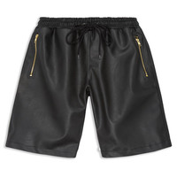 Dark Renaissance Leather Shorts