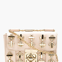 ROSE LEATHER EMBELLISHED ELSIE SHOULDER BAG