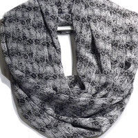 Gray Infinity Scarf. Circle scarf. Loop Scarf. Women Accessories.