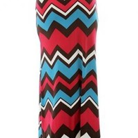 Proud and Free Chevron Maxi Skirt