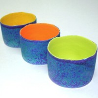 3 Small Votives / Special Offer for the group / by blueroompottery