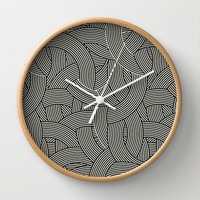 New Weave in Black Wall Clock by House of Jennifer