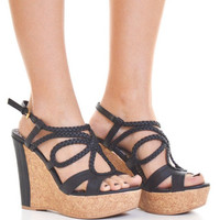 A Walk In The Clouds Wedges - Black