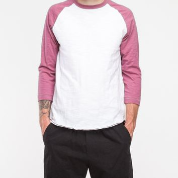 Todd Snyder x Champion / 3/4 Sleeve Baseball Tee